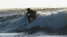 Julsurfing i skånska Mölle