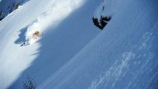 Djup skidåkning i Madesimo