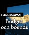Tema Bumma: Budget och boende