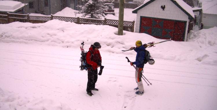 En historisk dag i Kanada vintern 2005 - det snöade.