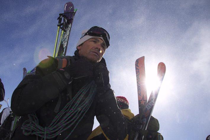UCPA-guiden Pierre vid kamvandringen vid Aiguille du Midi, Chamonix.