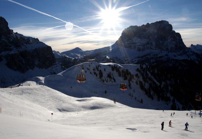 Det går fint att lifta i Dolomiterna.