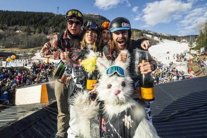 Alla vinnare i årets Homerun: Warner Nickerson, Erik Nylander (snowboard) Felicia Lekedal (tjejklassen) Erika Edling (Bäst utklädnad) Malin Ehnberg (KTM-vinnare)