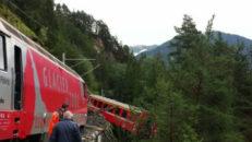 Tåg spårade ur i närheten av St. Moritz