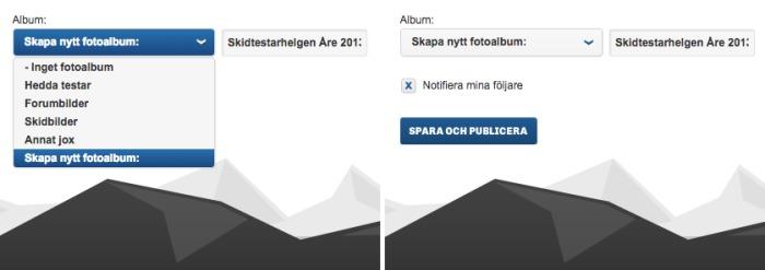 Fixa album och välj notifiering.