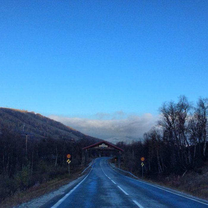 Första snön på Skars i Ramundberget.