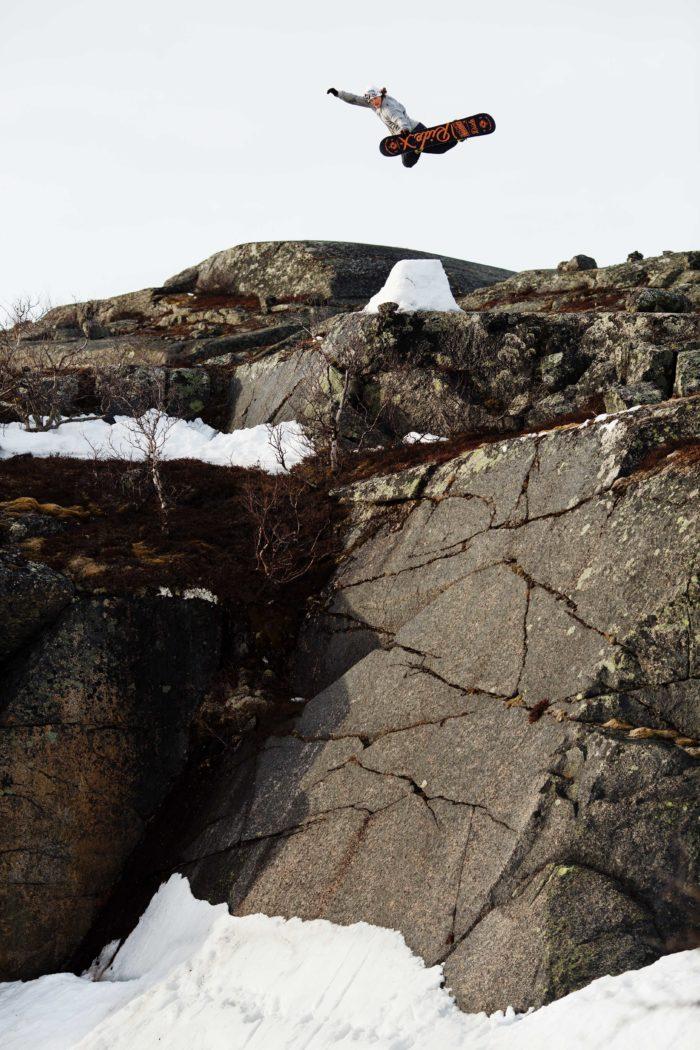 Fläskig method till bergvägg i Riksgränsen