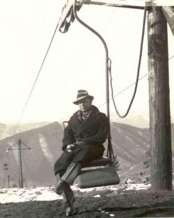 James Curran och världens första stollift.