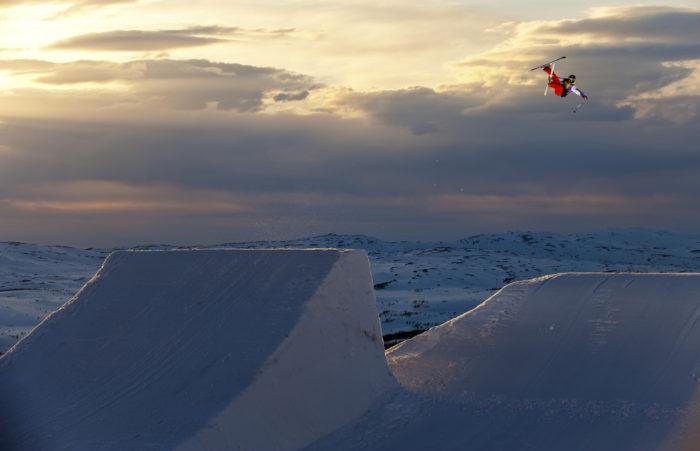 Jon Olsson tar luft i Stendalen, Åre