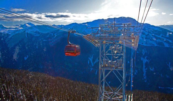 Peak 2 Peak i Whistler.