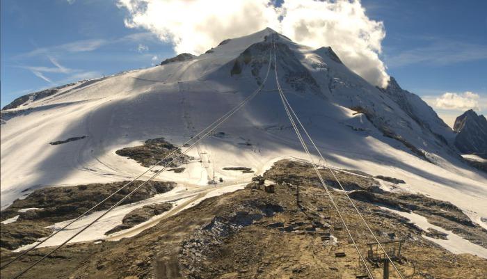 Grande Motte-glaciären ovanför Tignes.