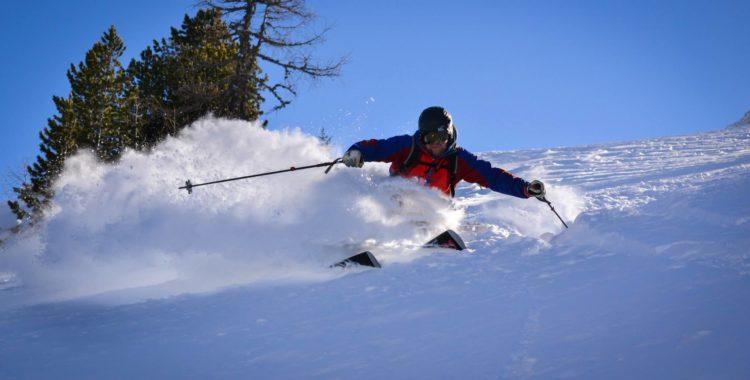 Anders plöjer snö en ledig dag i Bad Gastein.