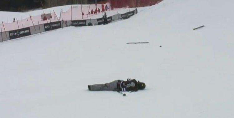 Henrik Harlaut gick ner hårt i slopestylefinalen