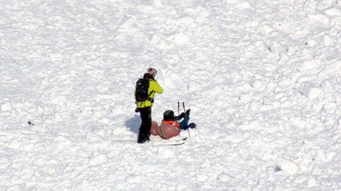 Julien Lopez klarade sig som tur var oskadd ur lavinen i förmiddags.