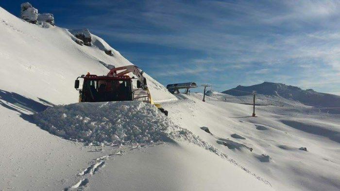 Cardrona fick vinterns första dump i mitten av förra veckan.