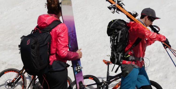 Jackie och Jenny växlar cykel-lagg