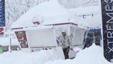 Snön finns i Argentina