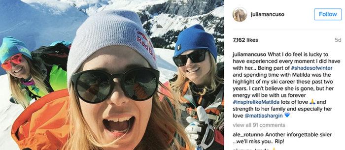 """Julia Mancuso: """"Att ha spenderat tid med Matilda var höjdpunkten av mina senaste två års skidkarriär"""""""