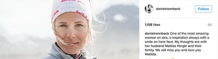 """Daniel Rönnbäck: """"En av de mest fantastiska kvinnorna på ett par skidor"""""""