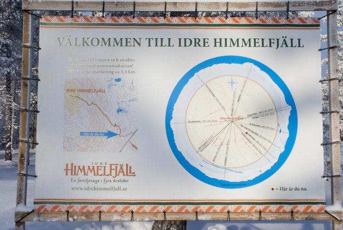 Idre Himmelfjälls orienteringskarta.