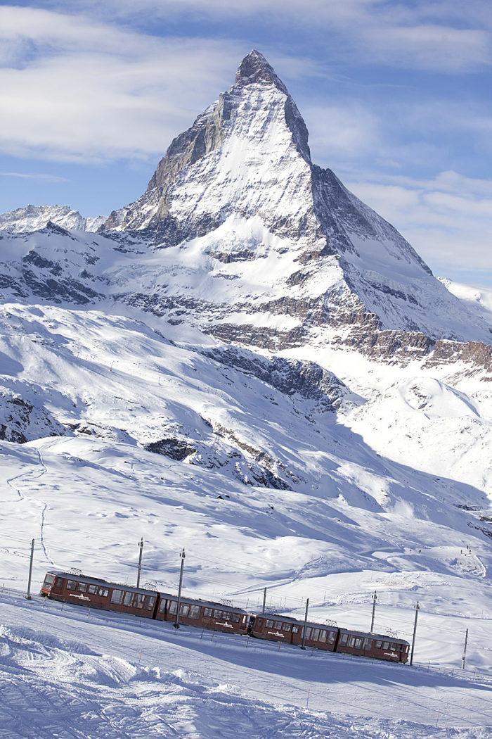 Matterhorn och tåg
