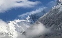 Över två meter snö i Chamonix