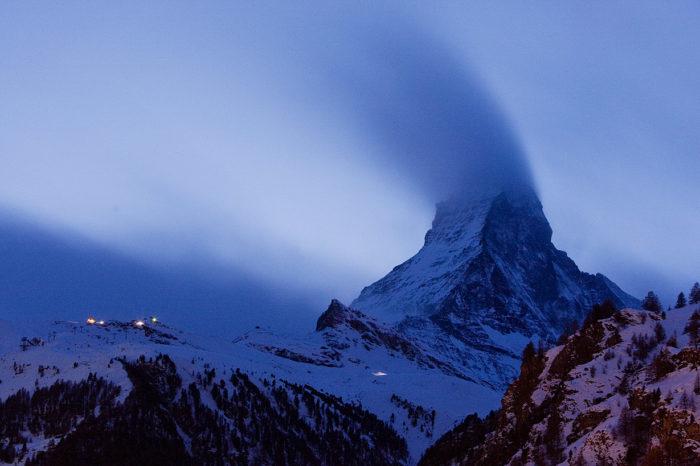 Spöklik Matterhorn