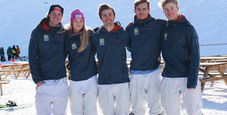 Anton Axellie, Clara Månsson, Ludvig Fjällström, Felix Elofsson och Walter Wallberg
