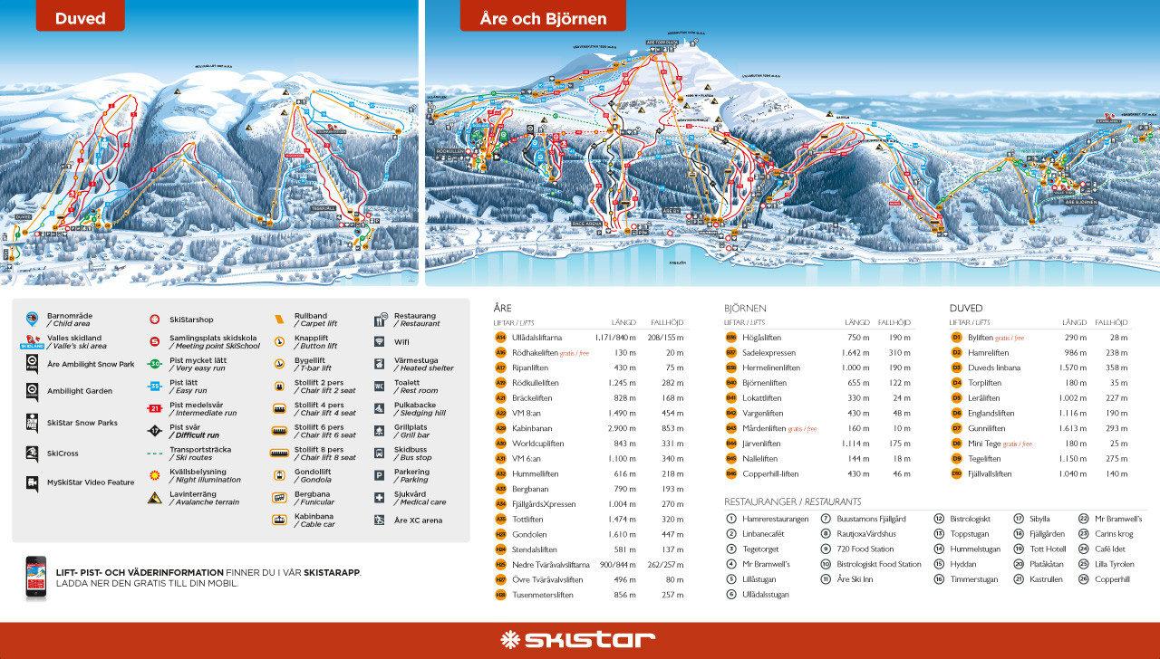 skidorter sverige karta Detta är Sveriges bästa skidort 2017   Freeride skidorter sverige karta