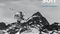 Amerikanska Alpina skidåkare i nakenkalender