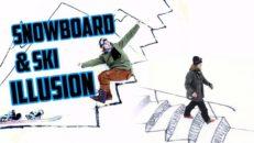 Skid- och snowboardillusion med Freddie Grann