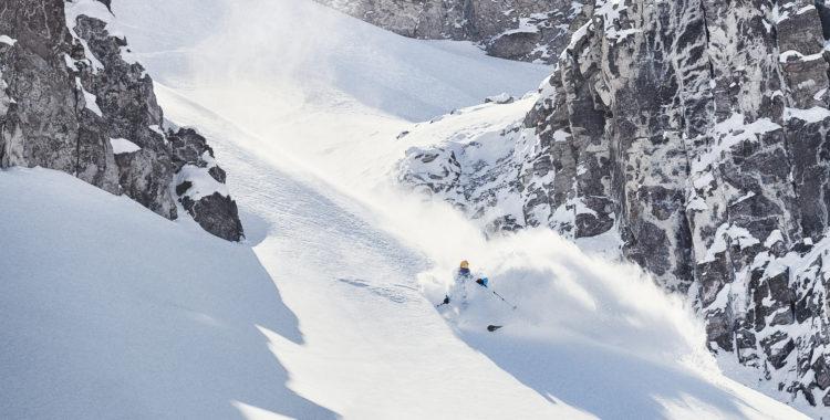 Andreas Bengtsson hittar rätt i chilenska skidorten La Parva.