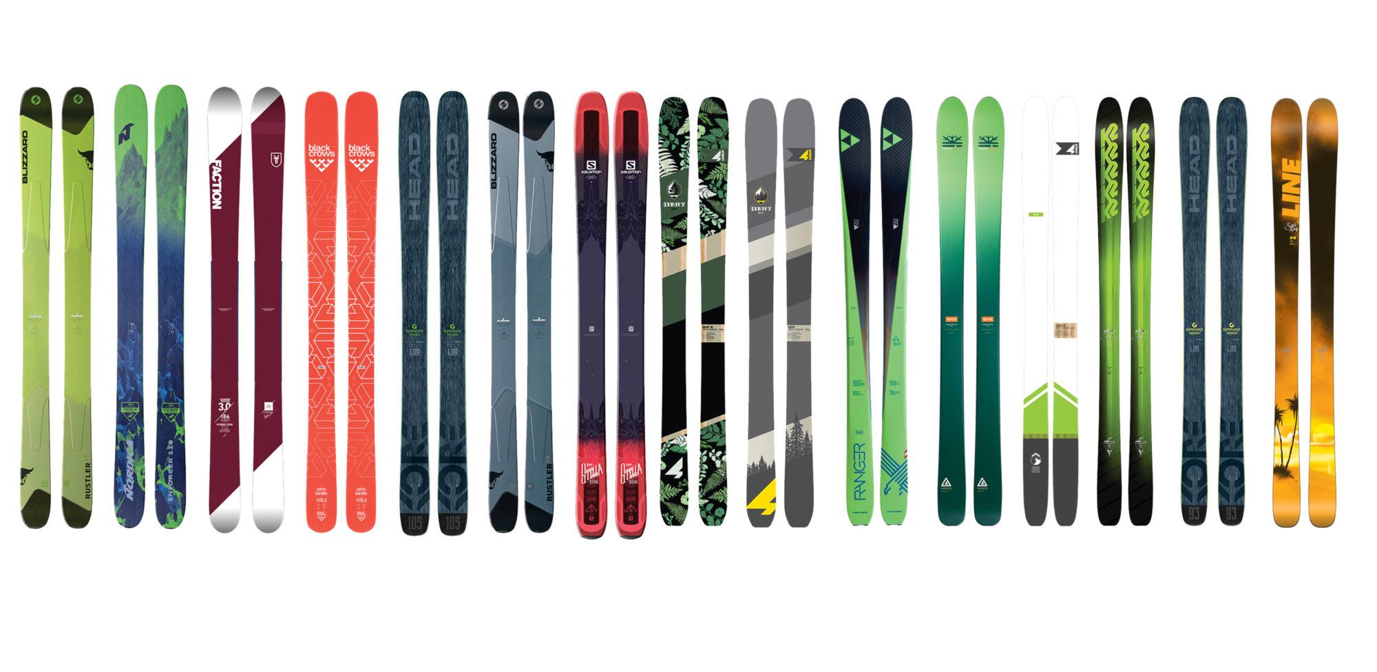 Femton par skidor i kategorierna Big Mountain och Allmountain. Foto  De  femton par skidorna i kategorierna Big Mountain och Allmountain. 2d52fb9e04