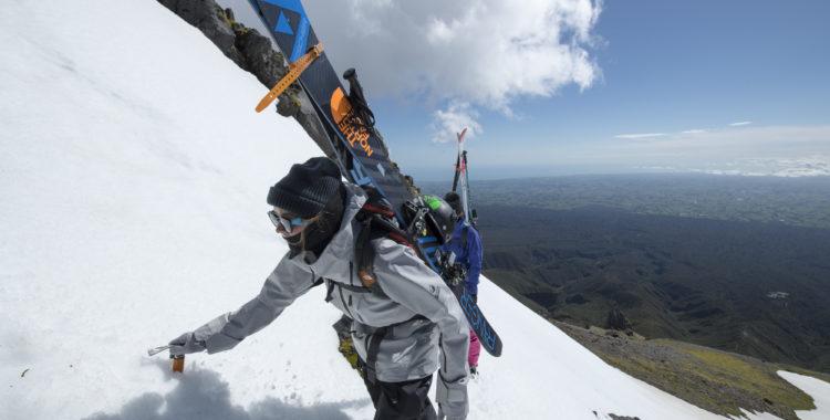 Evelina Nilsson på vulkanäventyr på Nya Zeeland nu i oktober 2017.