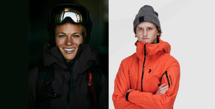 Schweizaren Elisabeth Gerritzen och Carl Regnér har fått nya skidkläder.