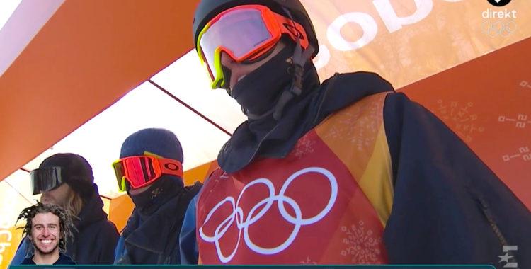 En taggad Harlaut på start i OS, besviken efteråt med som alltid med ett leende.
