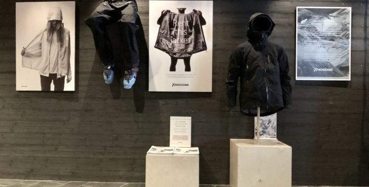 Hyr Houdini-kläder direkt i lobbyn på hotellet Copper Hill i Åre Björnen.