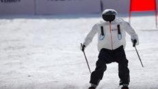 Skidåkande robotar under OS i Sydkorea