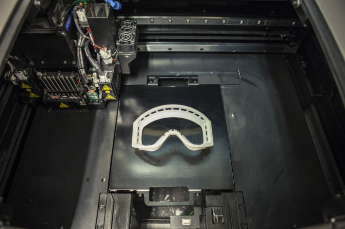 En bild av en 3D-print hos Sports Tech i Östersund.