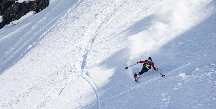 En FWQ-tävling, en skida och en enastående insats av Patrick Halgren.