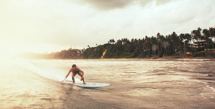 Beach breaket på stranden SK Town utanför Matara på södra Sri Lanka är en klassiker.