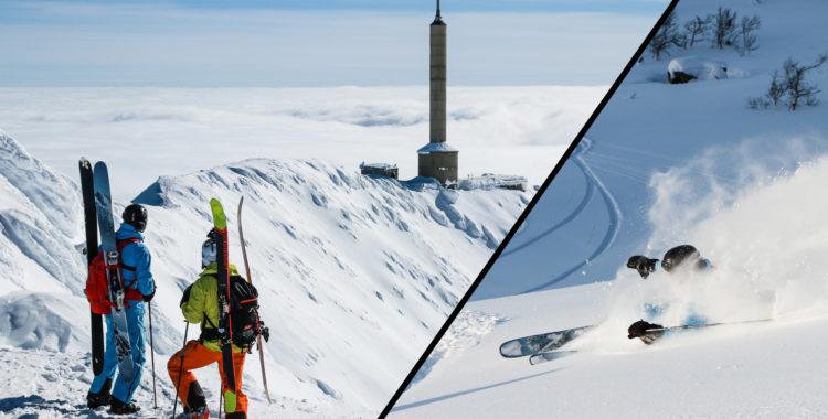 Gaustatoppen 1883 meter över havet.