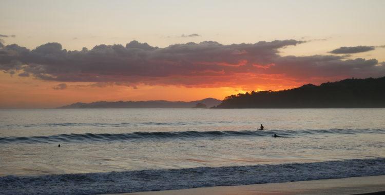 Solnedgång i Playa Venao, Panama