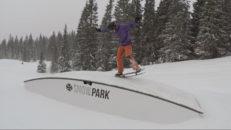 Snowskate – sidledes utan bindningar
