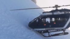 Gastkramande helikoptermanöver i franska Alperna