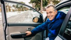 Uber intar franska Alperna