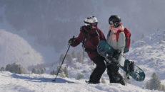 Norrlänningar på bräda och skidor i Les Arcs