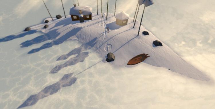 På en ö i en sjö någonstans i Dalarna i mobilspelet