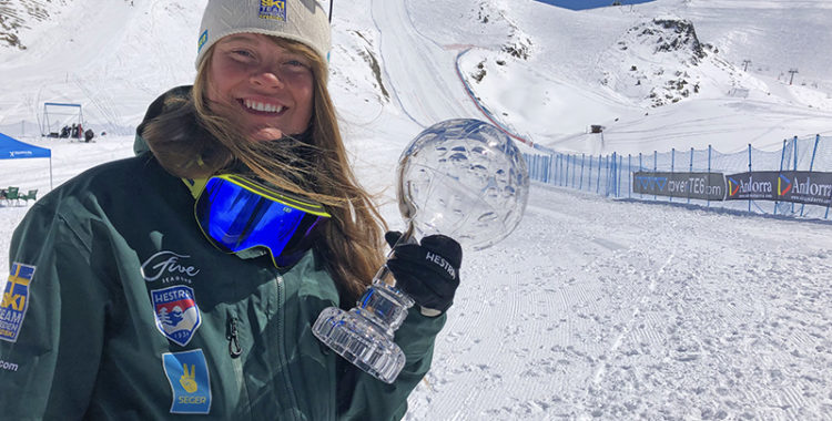 Britta Backlund från Rättvik vann VM, SM och den totala världscupen i speedski denna vinter.