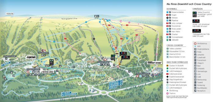 Ledkarta Sälen Bike park